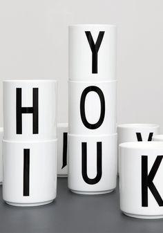 Arne Jacobsen Design Letter Porcelain cup from www.bodieandfou.com
