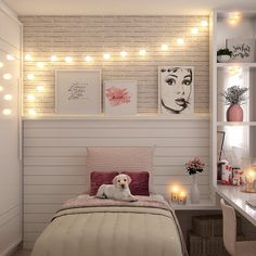 Home Decorators Collection Blinds Dream Rooms, Dream Bedroom, Home Decor Bedroom, Girl Bedroom Designs, Girls Bedroom, My Room, Girl Room, Cute Room Decor, Aesthetic Rooms