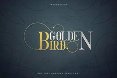 Golden Bird Serif font   Cool Extras