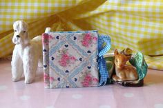 Needle Case - Blue Gingham and Blue & Pink Roses & Hearts £4.00