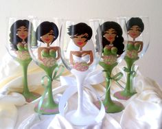 3D Boob Bridesmaid Wine Glasses from Glass Bellas. Bridesmaid Gift