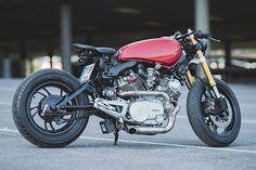 "Ducati Panigale based Penta"" by Officine GP Design Virago Cafe Racer, Yamaha Virago, Ducati, Scrambler, Cafe Racer Style, Custom Cafe Racer, Cafe Racer Build, Cafe Bike, Cafe Racer Bikes"