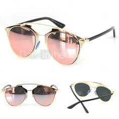 d80e2134e4d Espejados gafas de sol UV400 del 100% de las mujeres - USD  11.99 Lentes De