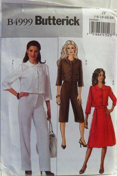 Butterick 4999 Misses'/Misses' Petite Jacket, Skirt, and Pants