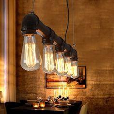 E27 Water Pipe Pendant Lamp Holder #ledlighting #led #lighting #light #ledlights