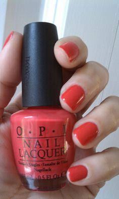 OPI Cajun Shrimp - My favorite summer color!!!