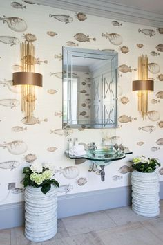 acquario wallpaper cole and son - Google Search
