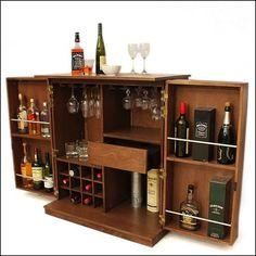 תוצאת תמונה עבור how to make a bar for the home Bar Storage Cabinet, Home Bar Cabinet, Cabinet Ideas, Liquor Cabinet, Wine Storage, Cocktails Bar, Bar Drinks, House Furniture Design, Bar Furniture