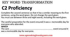 #c1advanced#useofenglish #c2proficiency# #opencloze #keywordtransformation #gappedtext #cambridgeenglish. #sentencetransformation - sentence transformation - worksheet -Gramática inglesa avanzada - fortgeschrittene englische Grammatik - προηγμένη αγγλική γραμματική -zaawansowana gramatyka języka angielskiego