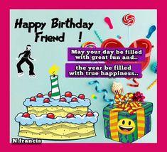 Birthday Toast, Birthday Hug, Happy Birthday Friend, Birthday Wishes Funny, Birthday Songs, Very Happy Birthday, It's Your Birthday, Beautiful Birthday Wishes, E Greetings