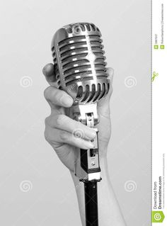 holding old microphone - Pesquisa Google