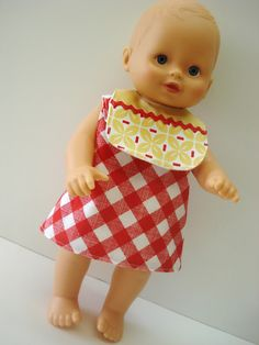 Bee In My Bonnet: A New Outfit for Dolly...cute bib and wrap dress tutorial