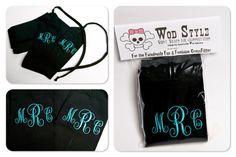 WOD Style Wrist Wraps Black Monogrammed by thismomasews on Etsy, $30.00