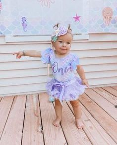 Baby Girls First Birthday Mermaid Leotard With Bow Mermaid Theme Birthday, Baby Girl First Birthday, Birthday Party Themes, Baby Fall Fashion, Fashion 2016, Business Baby, Cake Smash Outfit, True Colors, Baby Names