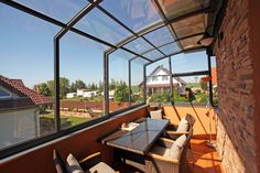 Terrace enclosure CORSO installed on balcony for your absolute comfort.