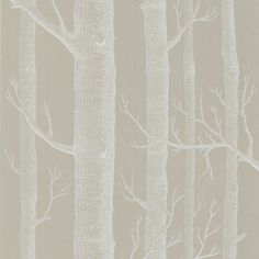 Cole and Son wallpaper in putty/white. Beige Wallpaper, Wood Wallpaper, Scandinavian Cabin, Scandinavian Design, Cole And Son Wallpaper, Kitchen Wallpaper, Wallpaper Online, Wallpaper Samples, Exposed Wood