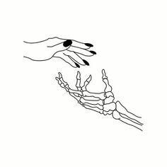 Give me your skeleton hand #outlinestumblr #outlines #blackandwhite #tumblr #girl