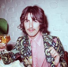 George Harrison wears William Morris print