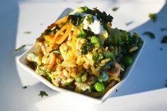 Indischer Linsensalat mit orientalischen Gewürzen und Gemüse ist ein #Rezept zum Genießen. Damit treffen Sie jeden Geschmack.