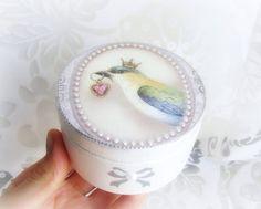 Ring bearer box wedding ring box love bird ring by GattyGatty