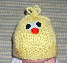 Easter: Free Little Chick Hat Pattern - Knitting for the NICU
