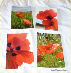 """Lot de 4 cartes postales 10,5x15cm avec des photos de coquelicots""""Amour de… Nature, Photos, Etsy, Poppies, Handmade Gifts, Love, Cards, Naturaleza, Nature Illustration"""
