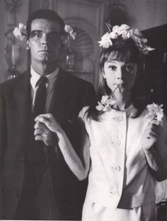 A Floral James Garner and Audrey Hepburn