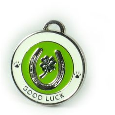 Lucky Clover Pet Tag by Luxepets on Etsy
