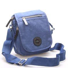 Malá praktická pánská i dámská nepromokavá crossbody taštička na doklady v modré barvě od značky New Rebels s šedými detaily, kterou si lze vzít na nákupy, procházky nebo do města Vám bude dělat radost každý den. Rebel, Fashion Backpack, Backpacks, Unisex, Suitcase, Backpack, Backpacker, Backpacking