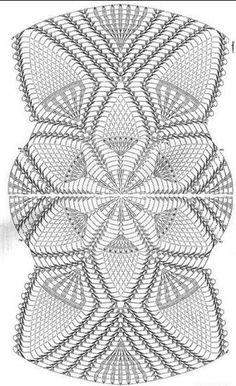 World Crochet Napkin 426 Crochet Table Runner Pattern, Free Crochet Doily Patterns, Crochet Tablecloth, Crochet Motif, Knitting Patterns, Filet Crochet, Thread Crochet, Crochet Stitches, Diy Crafts Crochet