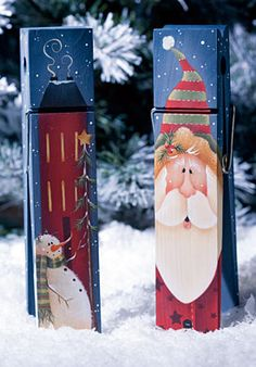 Decorative painting projects and projects with free patterns. Christmas Wood, Christmas Signs, Christmas Projects, Christmas Ornaments, Pallet Painting, Tole Painting, Painting On Wood, Arte Country, Pintura Country