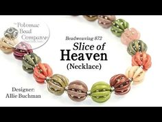 """Slice of Heaven"" Necklace or Bracelet - Crescent beads #Seed #Bead #Tutorials"