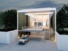 Estrutura metálica e aberturas na residência em Atibaia, SP, de Nitsche Arquitetos Associados