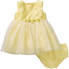 George Newborn Baby Girl Easter or Special Occasion Yellow Dress