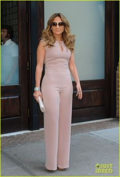 Jennifer Lopez Joins NuvoTV in Owner & Creative Positions: Photo Jennifer Lopez sports three different chic outfits while out and about on Wednesday (September in New York City. Jumpsuit Outfit Dressy, Navy Jumpsuit, Jennifer Lopez, Love Her Style, Jumpsuits For Women, Fashion Jumpsuits, Chic Outfits, African Fashion, Celebrity Style