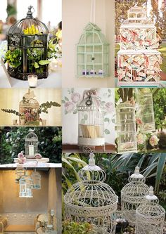 We really love the idea of using vintage birdcages as part of your wedding decorations, as they add a beautifully whimsical feel to the day. Vintage and ornate birdcages come in all shapes, sizes and colours and can be used to add a vintage touch to your wedding. Use them as table decorations full of flowers, herbs or pot plants, post boxes, hung from the trees or simply as a lantern with a candle inside.