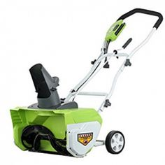 GreenWorks 26032 12 Amp Corded Snow Thrower - Electric Snow Shovel with Wheels Electric Snow Shovel, Electric Snow Blower, Electric Motor, Snow Shovel With Wheels, Snow Removal Equipment, Best Electric Scooter, Electric Pencil Sharpener, Removal Tool, Lawn Mower