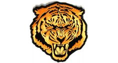 Large Tiger Back Patch Embroidered in Orange | Embroidered Patches