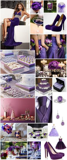 Violet Wedding Bouquet | The depth of colour and texture has inspired the following collection ...
