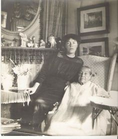 Grand Duchess Olga Alexandrovna with her nanny, Ms. Franklin.