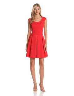 Maggy London Womens Scuba Fit and Flare DressFlare Dress #womenfashion #FlareDress #sasssjane #Flare #Dresses #nicedress