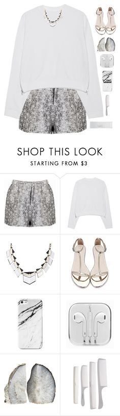 """""""Metallic Yoins"""" by genesis129 ❤ liked on Polyvore featuring Acne Studios, NARS Cosmetics, blackandwhite, stripedshirt, blackdenim, yoins and yoinscollection"""