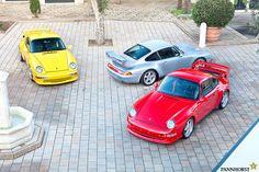 A group of Porsche 993 RS Clubsports. #993 #Porsche