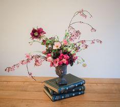 Natural Bouquet, Cherry Blossom, Vase, Spring, Nature, Home Decor, Interior Design, Vases, Nature Illustration