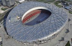 The Beijing National Stadium, known as the Bird's Nest, will will host the main track and field competitions and the opening and closing ceremonies. It seats 91,000
