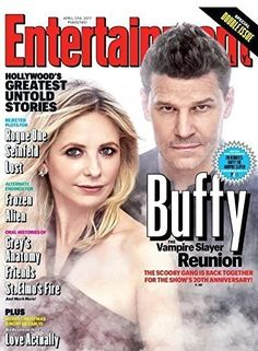 Entertainment Weekly Buffy 20th Reunion Cover GET IT WHILE YOU CAN! This 20th Anniversary Buffy Reunion Cover is what we've all been waiting for. Featuring an updated photo of Sarah Michelle Gellar and David Boreanaz, this issue of Entertainment Weekly is sure to kick your nostalgia into high gear. -Christie If you can't find it on newsstands and grocery stores, you can get it here on Amazon. It's way pricier than the stores, but at least you can get it. #joss #whedon #josswhedon #merch #buf