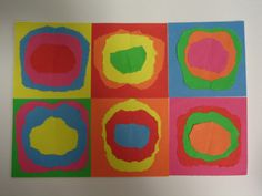 luglio 10 009 Kandinsky, Art For Kids, Crafts For Kids, Arts And Crafts, Art Plastique, Art Lessons, Preschool, Homemade, Montessori