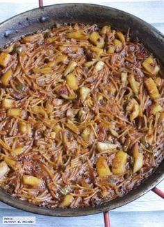 ^^ Receta exprés de fideuá de sepi Kitchen Recipes, Cooking Recipes, Healthy Recipes, Fish Dishes, Tasty Dishes, Quinoa, Spanish Dishes, Pasta Recipes, Food Porn