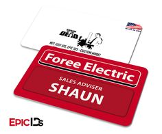 "Shaun of the Dead Inspired Foree Electric ""Shaun"" Name Badge (Clean)"