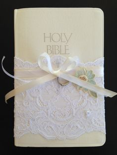White Ring Bearer Bible by DixieDebutantes on Etsy, $35.00